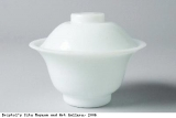 White bowl with lid