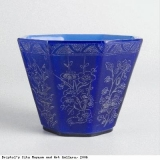 One of a pair of octagonal cups
