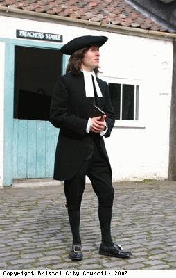 Actor dressed as John Wesley