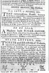 Advert for coffee and sugar house sales