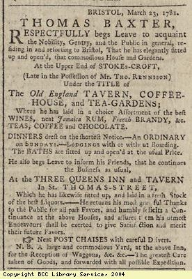 Advert for sale of imported goods