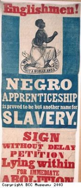 Banner from campaign against apprenticeship