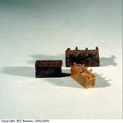 Boxes for gold dust from Asante people of Ghana