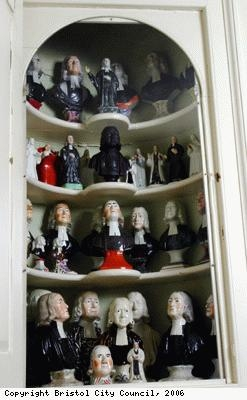 Cabinet of busts of John Wesley