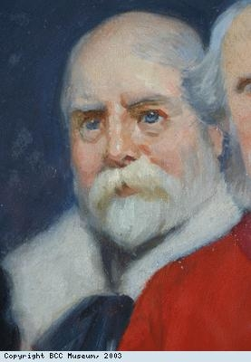 Detail from painting