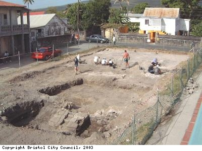 Excavations on Nevis