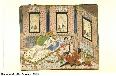 Indian painting, Chinese-style interior