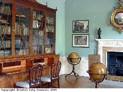 Library in Georgian House