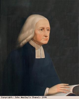 Lithograph of John Wesley painting