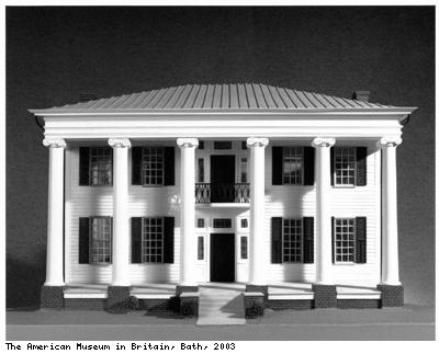 Model of Thornhill plantation house