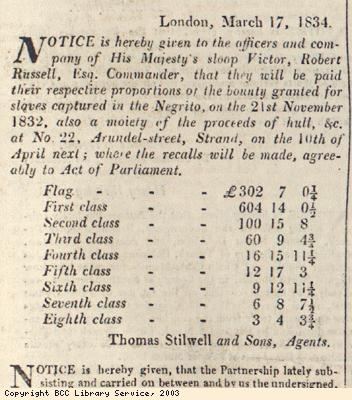 Notice to crew of HMS Victor