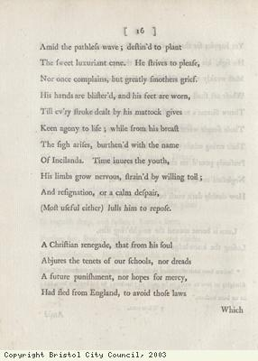 Page 16 from poem against slavery