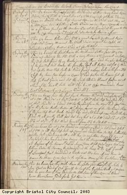 Page 38 of log book of Black Prince