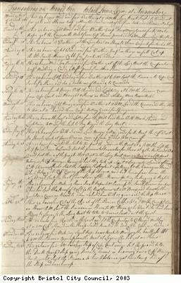 Page 47 of log book of Black Prince
