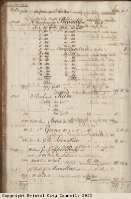 Page 4 from log book of ship Africa