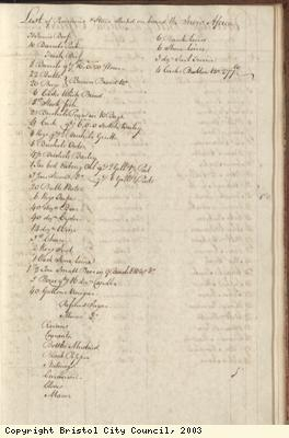 Page 51 from log book of ship Africa