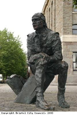 Bronze statue of a sailor, Bristol