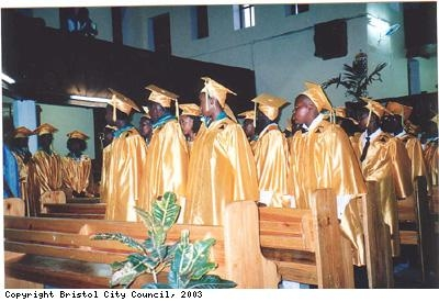 graduation ceremony on Nevis