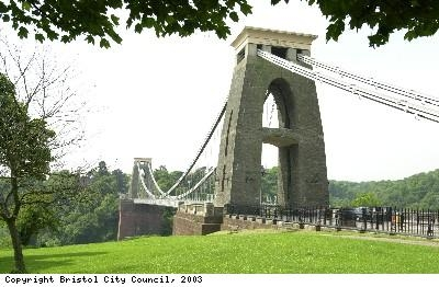 Photograph of the suspension bridge Bristol