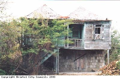 A typical house on Nevis