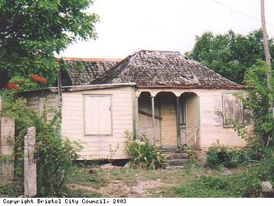 Typical house on Nevis
