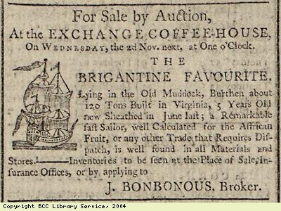 Sale by auction of ship