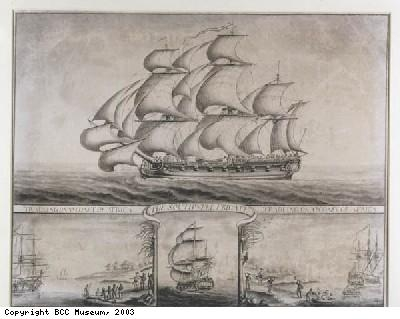 The Southwell Frigate by Nicholas Pocock