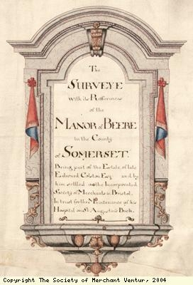 Title page, manor of Beere survey