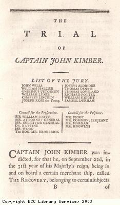 Trial of Captain John Kimber